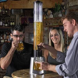 Cuteworld Beer Tower 3 litre Beer Dispenser with Ice Tube | Bar accessories | Hotel accessories | Beer Dispenser | Bar Equipment