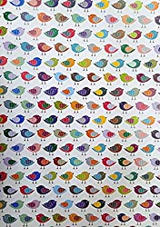 Eno Grrrting A4 Pattern paper for Gift Wrapping, Envelope Making,Card Making, Scrapbooking, Paper Crafts and Multipurpose Creative Uses pack of 10 (BIRD)