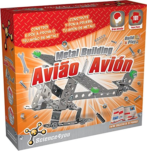 Science4you-Metal Building Avion Juguete científico y Educativo Stem 483115