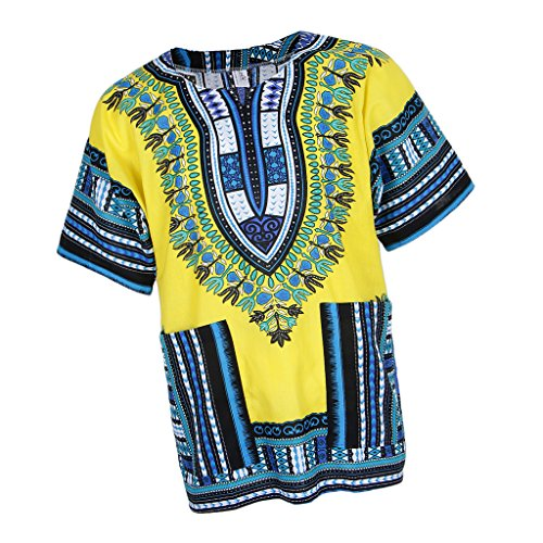 dailymall African Prints Shirt Kleid Baumwolle Dashiki Kaftan Rapper Tops Für Frauen -