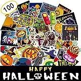AhaSky [100pcs] Aufkleber, Halloween Sticker Set Wasserdicht, Stickerbomb für Auto Motorräder Laptop Fahrrad Skateboard Snowboard Gepäck