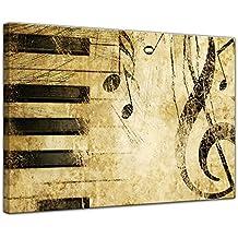"""Bilderdepot24 Cuadros en Lienzo """"Música de Grunge"""" - 40 x 30 cm - listo tensa, directamente desde el fabricante"""