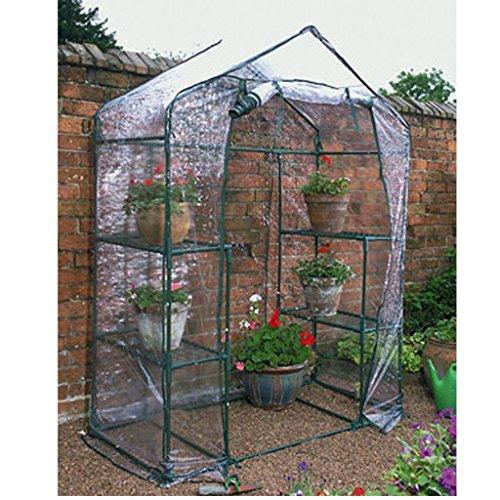 Begehbares Gewächshaus, PVC, für Gartenpflanzen/ Blumen, Pflanzenregal, transparent