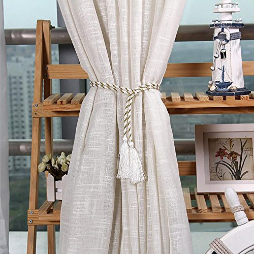 One Paar Vorhang Gurt Band Binden Quaste Raffhalter Seil Wohnzimmer Schlafzimmer Home Dekoration weiß