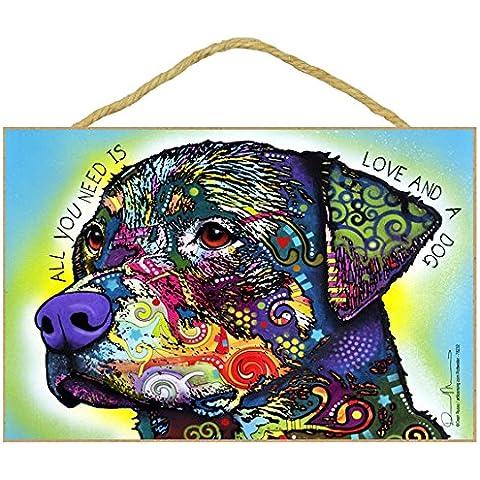 Rottweiler regalo colorato, motivo