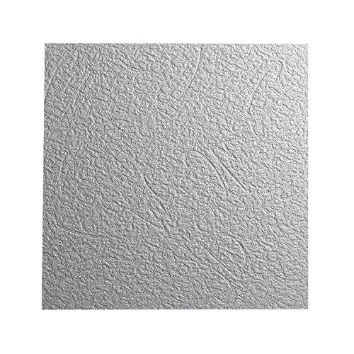 DECOSA Styropor Deckenplatten BUDAPEST - Putz Optik - Deckenpaneele in Weiß - Dekor Paneele 50 x 50 cm - Decken Styroporpaneele - 64 Platten = 16 m2