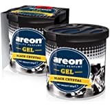 Areon Black Crystal Gel Air Freshener for Car(80g )- Pack of 2 (GCK12)