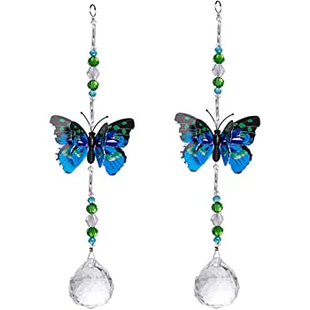 longsheng maple leaf Butterfly Pendant Chandelier Prisms Rainbow Beads Chakra Suncatcher Home Windows Decor,pack of 1 New Crystals type2