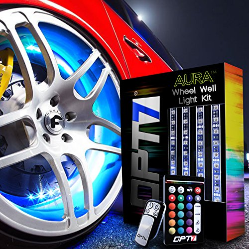 """OPT7 3-Into-1 AuraColorâ""""¢ Wheel Well LED Kit 