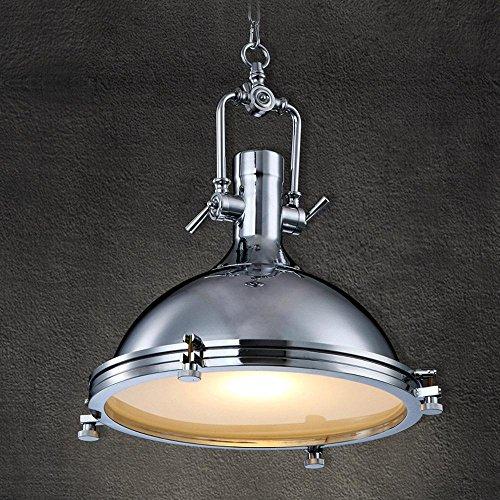 GRFH Metall-Industrie-Anhänger Licht Land Pendelleuchten Rustikale Loft Cafe Salon Befestigung Beleuchtung E27