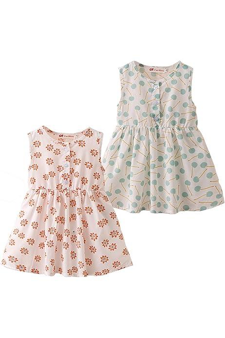 Vestido de Verano para Bebe Niñas Casuales Algodón Infantil Sin Mangas Chicas Ropa Flores 0 a 4 años: Amazon.es: Ropa y accesorios