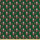 ABAKUHAUS Geometrisch Stoff als Meterware, Weihnachtsmann