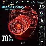 [Canon Camera] BOPU® 7 Cambiano Colore Luci dell'arte Scultura Up in Produce unici effetti di luce e visualizzazione 3D incredibile illusione ottica, luce, regalo fantastico illuminazione Gadget Lampada Decor USB alimentato