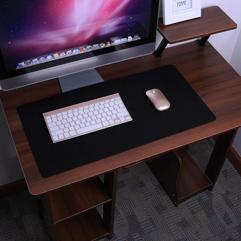 mouse Geshiglobal colore nero Grande antiscivolo feltro Gaming Mouse pad ufficio scrivania di tastiera