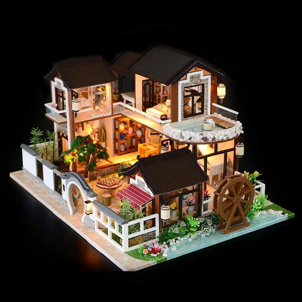 Wood L Casa Delle Bambole In Miniatura Diy Miniatura Casa Delle Bambole In Legno Fai Da Te Kit Diy Dollhouse Ancient Architecture Casetta Delle