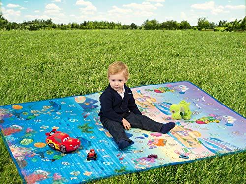 Tappeto Morbido Per Gattonare : Tappeto da gioco morbido per bambini ripiegabile grande doppia