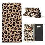 Samsung Galaxy S8 Plus Hülle, MSK® Schutzhülle [Leopard Muster] Tasche für Samsung Galaxy S8 Plus Handyhülle Ledertasche Brieftasche Stand Hülle