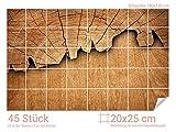 Graz Design 761675_20x25_120 Fliesenaufkleber Baum/Holz-Optik für Kacheln | Wand-Deko für Bad/Küchen-Fliesen (Fliesenmaß: 20x25cm (BxH)//Bild: 180x120cm (BxH))