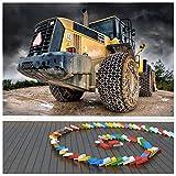 azutura Gelber Traktor Fototapete BAU Tapete Jungen Schlafzimmer Haus Dekor Erhältlich in 8 Größen Klein Digital