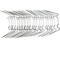 Jroyseter 25Pcs Stainless Steel Glazing Clips Thick Greenhouse Glazing Clips for Multilayer Boards Hollow Boards Glass Boards