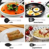 from BravRain Kitchen Utensils, BravRain 5 Piece Kitchen Tools, Nonstick Nylon and Stainless Steel Cooking Tools, Spoon, Skimmer, Slotted Spatula, Ladles, Pasta Server