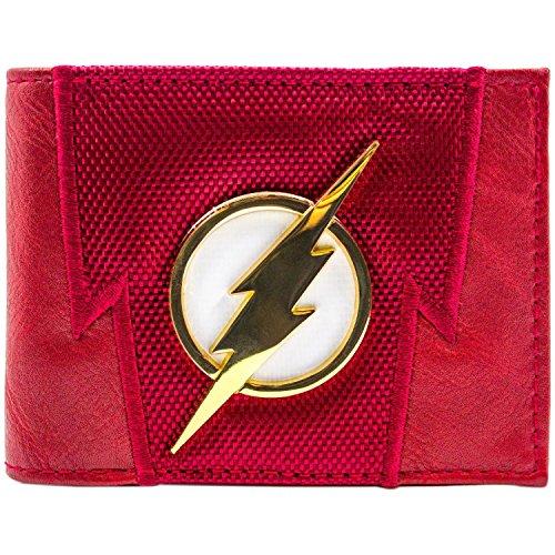 DC Flash Blitz-Badge Suit Up Rot Portemonnaie Geldbörse (Die Flash Karte Kostüm)