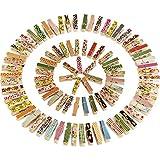 Mini Coloré Photo Pince à Linge Coloré En Bois, 100 Pièces