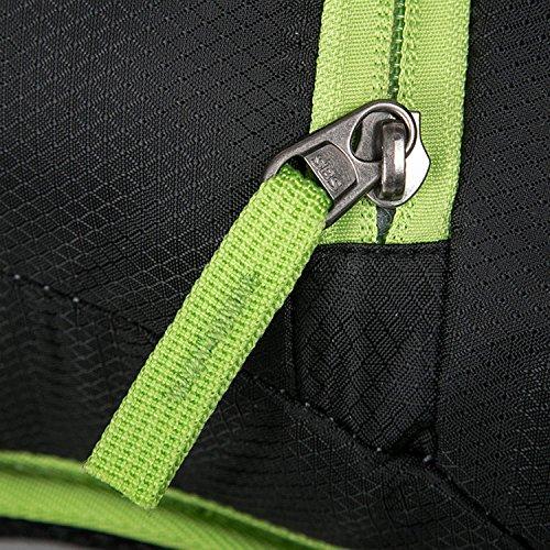 HWJF Reittasche Outdoor Freizeittasche Wasserdichte Nylon Camping Tasche Fahrradtasche Multifunktions Rucksack Red