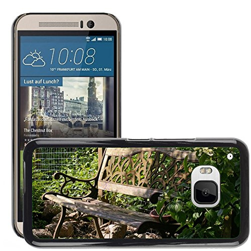 Hülle Case Schutzhülle Cover Premium Case // M00290833 Garten-Bank Bank Lehne Sitz Holz // HTC ONE M9