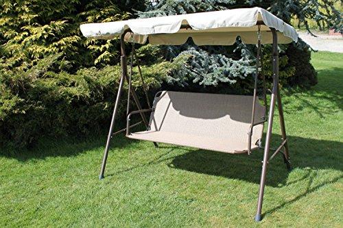 olive-grove-textoline-steel-2-3-seater-garden-hammock-swing-seat-in-tweed-colour