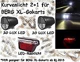 Gokart LED Kurvenlicht Scheinwerfer 2xFront 1xRear Black f. BERG Gokart