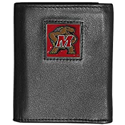 NCAA Maryland Terrapins Deluxe Leather Tri-fold Wallet