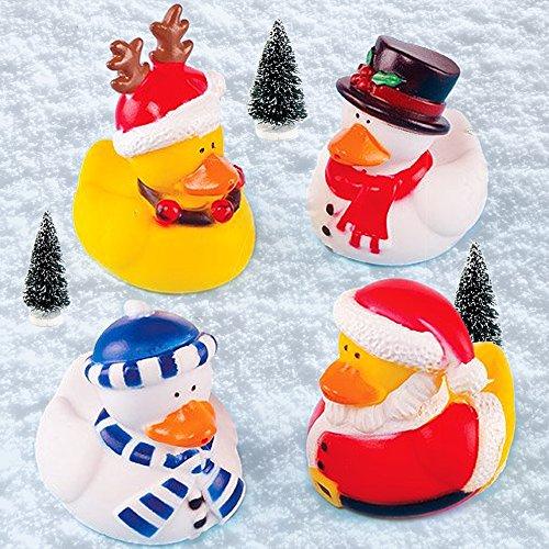 Baker Ross - Anatre natalizie in gomma, set da 4