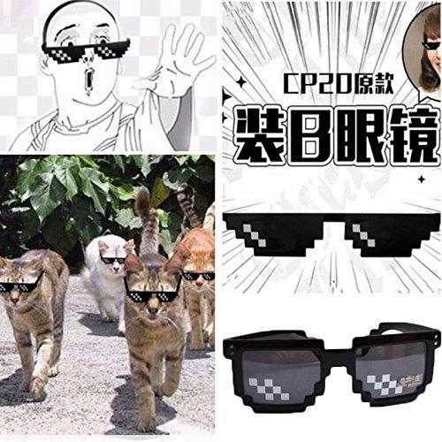 Spezialeffekte Kostüm - CXZC Mosaikgläser, Zweites Element Thugs Sonnenbrille Mosaik Neuheit Spezialeffekte Cosplay