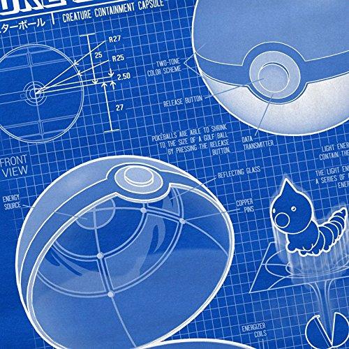 A.N.T. Poké Ball Dessin Bleu T-Shirt Femme monsters jeu vidéo Bleu