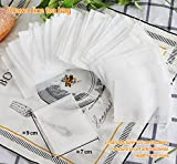 ilauke 100PCS Tea Bags Disposable Drawstring Empty Paper String Seal Filter White 7x9cm/2.8x3.5inches (Non-woven Fabric)