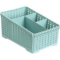 Lumanuby 1X Sac de Rangement Panier de Rangement en Plastique Boîte de Rangement de Bureau à Domicile Panier de Finition de Cuisine pour Boîte de Stockage 19*14*10cm