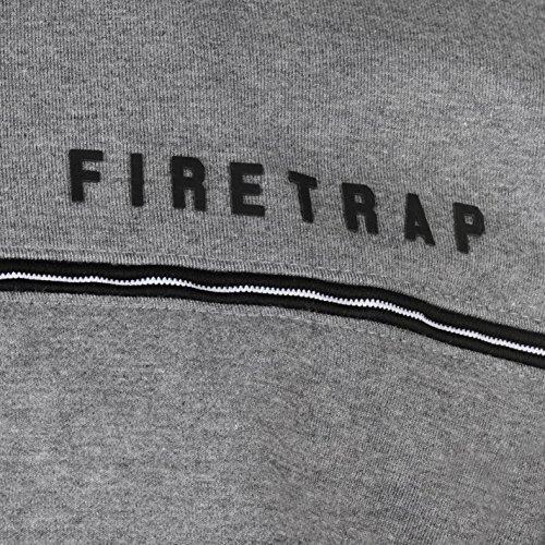 Firetrap Uomo Inlk Felpa con Cappuccio Charcoal Marl