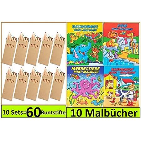 Libetui 10 Sets Buntstifte Malsets für Kinder Gastgeschenke Mitgebsel für Kinderparty Geburtstag