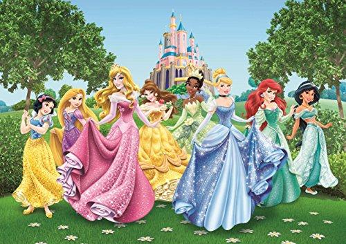 AG-Design-Disney-Princess-Castle-4-Part-Photo-Mural-Wallpaper-Multi-Colour-360-x-254-cm