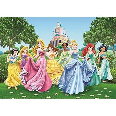 AG Design FTD 2207 Stampa fotografica decorativa da parete, motivo: principesse Disney, 360 x 254 cm, Multicolore (Bunt)