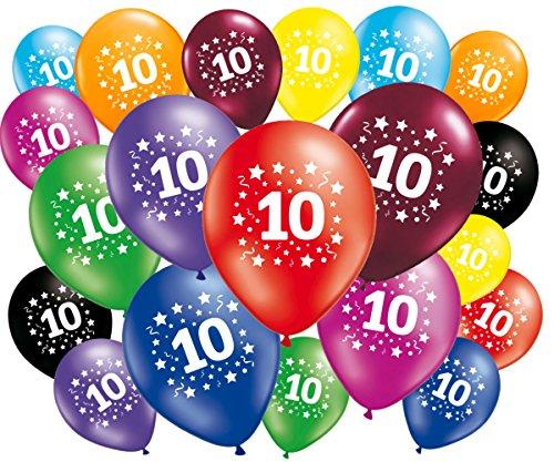 FABSUD–Lote de 20Globos cumpleaños 10años