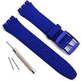Cinturino per Swatch, impermeabile, in gomma siliconica