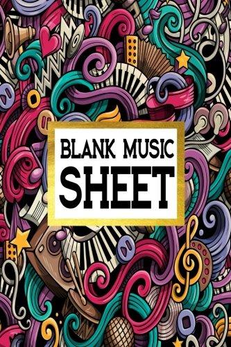 Blank Music Sheet: Manuscript Paper 8 Stave Music Journal Piano Guitar 6x9, 100 pages: Volume 8 por Alia Leone