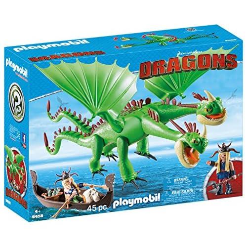 PLAYMOBIL DreamWorks Dragons Dragón 2 Cabezas con Chusco y Brusca, A partir de 4 Años (9458) , color/modelo surtido 10