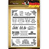 Clear Stamp Set - Oriental Deutscher Text