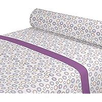 DAGOSTINO HOME Juego de Sabanas para cama de 90, Diseño Cira fuxia, Composicion, 50% Poliester/50% Algodón, Compuesto por Funda de almohada, Encimera y Bajera.