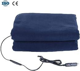 KATURN Winter-Heizdecke für Auto, Fleece, 12 V, konstante Temperatur, Heizdecke fürs Auto, elektrische Decke für Kinder und ältere Menschen im Winter