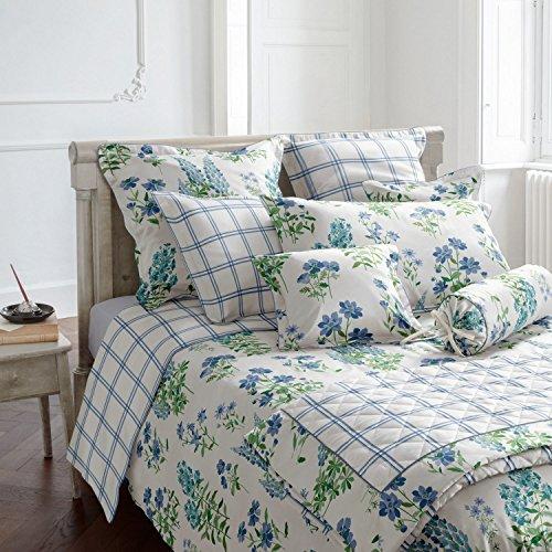 Laura Ashley Wendebettwäsche Fernshaw Cornflower Blue blau-grün-weiß Größe 135x200 cm (80x80 cm) (Ashley Bettwäsche Set Laura)