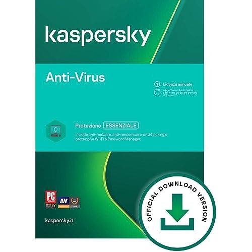 Kaspersky Anti-Virus 2021 | 2 PCs | 1 Anno | PC | Codice d'attivazione via email